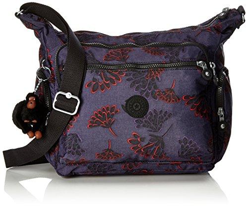 Kipling GABBIE BP Damen Schultertaschen, Mehrfarbig (Floral Night), 35.5x30x18.5 cm (Damen Floral Handtasche)