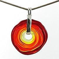 Kette in Rot-Tönen mit Anhänger aus Murano-Glas | Glas-Schmuck Wechsel-Schmuck | Unikat handmade handgemacht | Geschenk zur Hochzeit |Geburtstagsgeschenk | Personalisiertes Geschenk zu Weihnachten | Mama