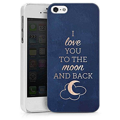 Apple iPhone X Silikon Hülle Case Schutzhülle Sprüche Moon I Love You Love Hard Case weiß