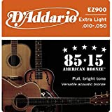 D'Addario EZ900 Acoustic Guitar Strings, Pack of 2