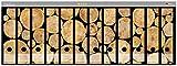Wallario Ordnerrücken Sticker Holzstapel rund in Premiumqualität - Größe 72 x 30 cm, passend für 12 breite Ordnerrücken