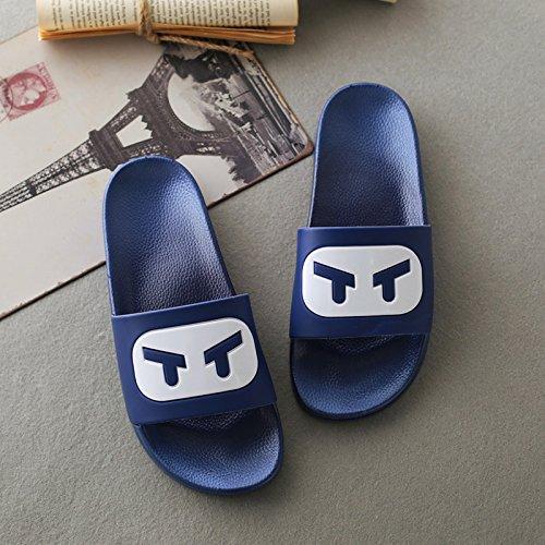 DogHaccd pantofole,Le coppie di pantofole, vasca da bagno in estate home soggiorno con una piscina morbida antiscivolo uomini di usura del bagno la marea scarpe Blu scuro1