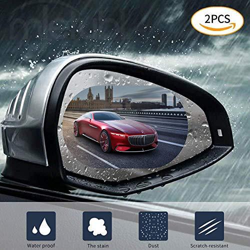 CATIZON Wasserdichte Folie für Auto Rückspiegel Seitenscheibe Anti-Fog Anti-Glare Anti-Kratz-Klar Schutzfolie - Packung mit 2 Stück (15 x 10cm)
