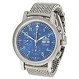 ARISTO Herren Automatik Chronograph Armbanduhr 4H86BM ETA Valjoux 7750 Milanaise Armband