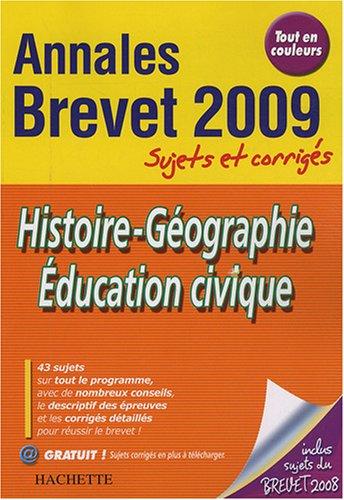 Histoire-Géographie Education civique Brevet : Sujets et corrigés