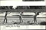 Vintage Photos 1986 Press Photo Andre Simons & Others at Hudson'S Bay High School Sign