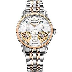 STARKING Men's AM0222RS31 Double Tourbillon Skeleton Luminous Automatic Watch