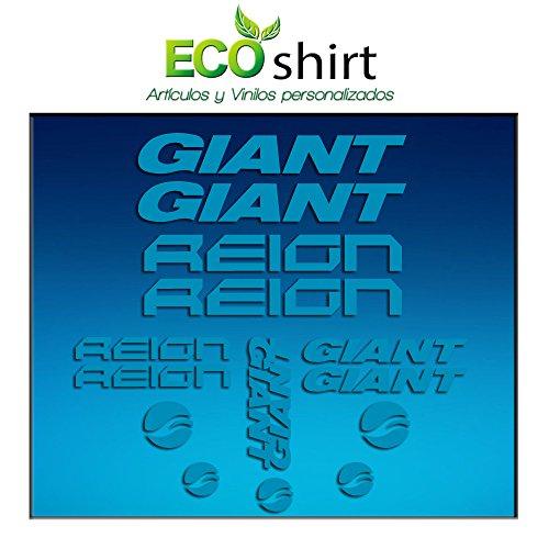 Ecoshirt K3-HTVN-N1EC Aufkleber Frame Giant Reign Am30 Stickers Aufkleber Decals Adesivi Bike BTT MTB Cycle, Blau