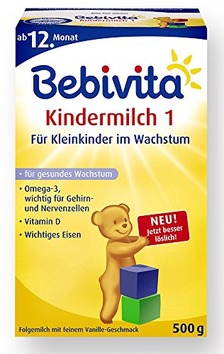 Bebivita Kindermilch 1 - ab dem 1. Jahr, 4er Pack (4 x 500g)