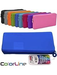 Colorline 58711 - Portatodo Plano de Silicona, Estuche Multiuso para Viaje, Material Escolar, Neceser y Accesorios. Color Gris, Medidas 21 x 10.5 x 3 cm