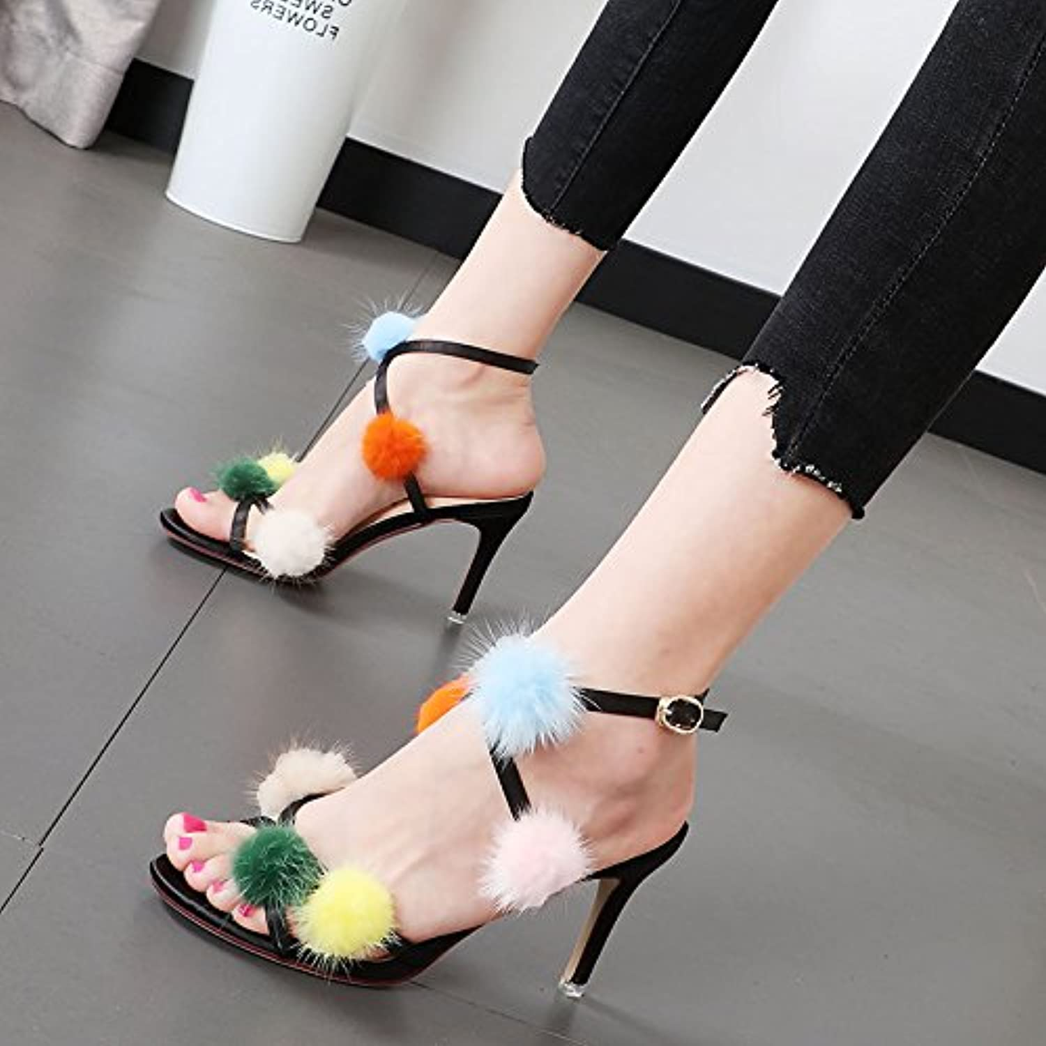1104a5d60 Xue Qiqi Women shoes dew-toe the line with the the the high-heel ...