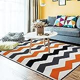 Mjb Teppich für Wohnzimmer, Kamin, Sofa, Couchtisch, Schlafzimmer, Nachttisch, Warmer Teppich, waschbar, 140 x 200 cm