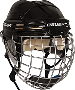 Bauer Erwachsene Helm 4500 Combo mit Gitter, Schwarz, L, 1032743