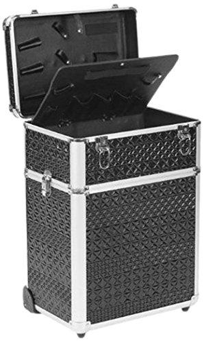 Efalock Peluquería–Maletín de aluminio Maquillaje Coiffeur Negro