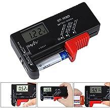 Comprobador de Bateria,Pomisty Tester Checker de baterias Digital Battery Tester Universal para Baterias AAA AA C D 1.5V 9V