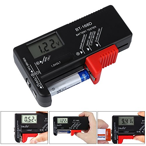 Batterietester,Digitaler Batterie tester Universal Batterieprüfer Volt Prüfgerät für 1,5V und 9V Batterie AA AAA C D 9V 1.5V Knopf Knopfzellen
