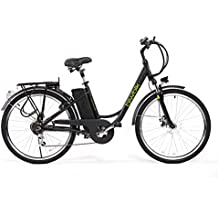 Bicicleta ELECTRICA Mod. Sunray 200 BATERIA Ion Litio 36V10AH (Negro)