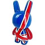 Londres -Sculpture Crazy Bunny Pop Art Factory Figurine Géante Drapeau Royaume Uni