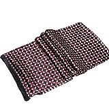 Seidenschal Herren 100% Seide Schal Doppellagig aus Satin Seidentuch Hypoallergen krawatte Nackenschutz Tuch im Winter 160 x 30cm (Festliches Rot)