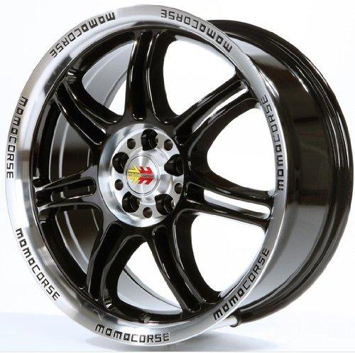 Momo Corse Black Polished 6.5x 15ET355x - 15 Zoll-felge 6 Schraube