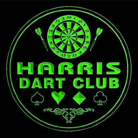 4x ccts1015-g HARRIS Dart Club Game Room Bar Beer 3D Drink Coasters