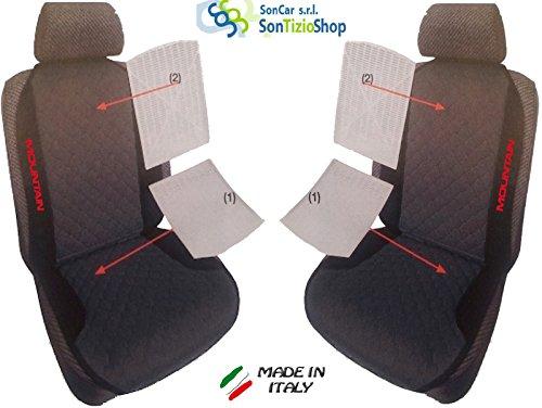 Paar von Rückenlehnen für Auto. Sitzbezüge universal Benutzerdefinierte mit Stickerei auf Draht: Mountain TJ. rot