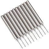 Shina 10unidades. Metal Duro PCB Fresa 0.8mm
