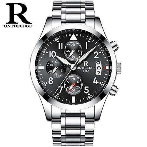 FENKOO Schöne Armbanduhren Leuchtende Mode-Uhr für Herren (Color : 4)