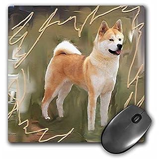 3dRose mp_4173_1 8 x 8-Inch Akita Mouse Pad