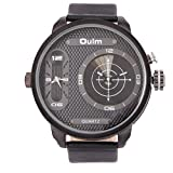 Oulm Multifunction Black Dial Men's Watc...