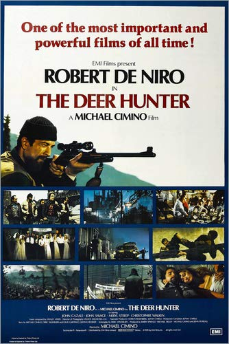 Poster 20 x 30 cm: The Deer Hunter, British Poster, Robert De NIRO (top Left), 1978 von Everett Collection - hochwertiger Kunstdruck, Kunstposter