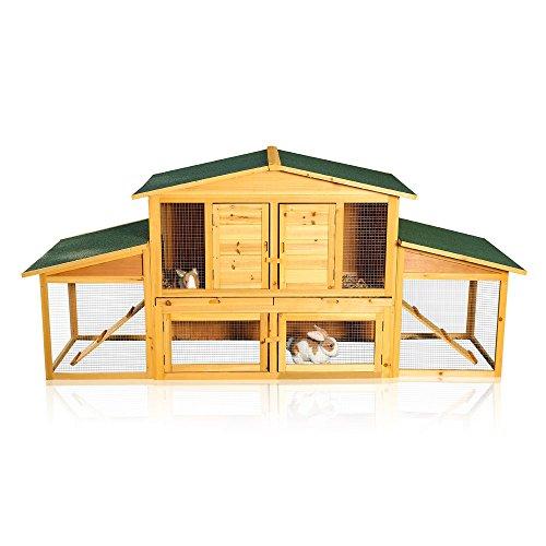 XXL Holz Kleintierstall Kaninchenstall Kaninchen Freigehege Hasenstall Freilauf für draußen