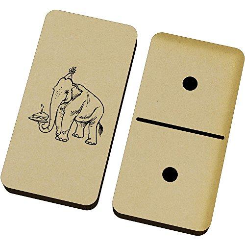 Azeeda 'Cumpleaños Elefante' Domino Juego y Caja (DM00018748)