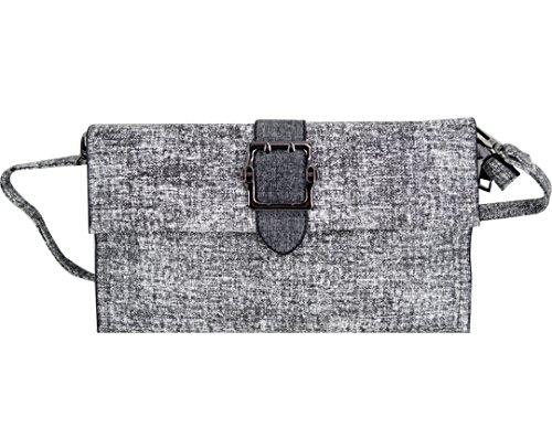 AiSi Damen PU Retro Handtsche Umhängetasche Abendtasche Party-Bags mit abnehmbare Schulterriemen Hellgrau Dunkelgrau Dunkelgrau