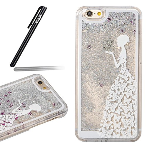 Apple iphone 6/6S 4.7 Cover, Ukayfe confine di placcatura Design Crystal Clear diamante di Bling Custodia Ultra Slim Morbido TPU Gel Silicone Trasparente Protettivo Skin Protettiva Shell Case Cover p gonna