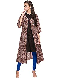 Stop by Shoppers Stop Womens V Neck Printed Long Jacket