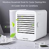 TianranRT♕ Microhoo Elettrodomestico Piccolo radiatore aria Ventola desktop Mini radiatore aria Condit aria piccola,bianca