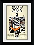 GB eye Ltd Transporte para Londres, Museo de Guerra Imperial, impresión enmarcada 50 x 70 cm, Madera, Varios, 55 x 75 x 2,9 cm