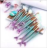 Make Up Pinsel Make Up Pinsel Set Der Kosmetikpinsel16 Meerjungfrau Make-Up Pinsel Blauer Fischschwanz Mit Farbverlauf Make-Up Pinsel SchöNheit Werkzeugsatz