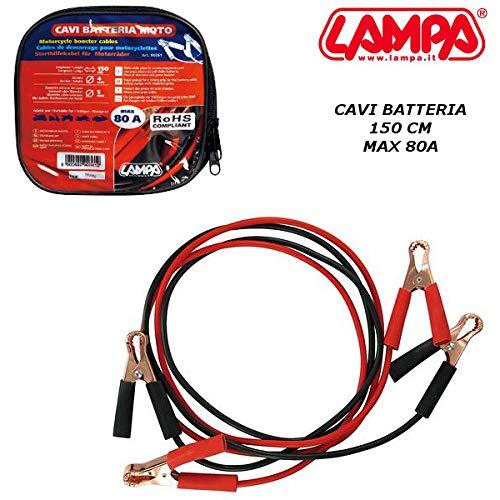 90361 CAVI BATTERIA CON PINZE SICUREZZA TGB 150 CM MAX 80A MOTO SCOOTER LAMPA