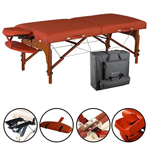Master Massage 71cm Santana Tragbarer Massagetisch Massage-Therapie Beauty Massageliegen Bett Couch in Zimt 6.4cm Schaumstoff Kissen (Standard) -