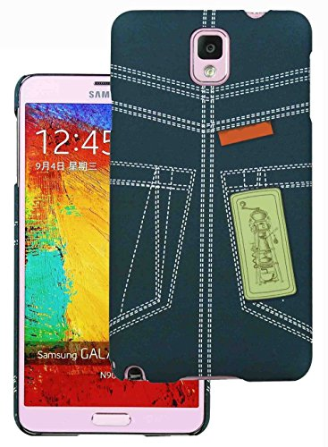 Heartly Jeans Style Printed Design High Quality Hard Bumper Back Case Cover For Samsung Galaxy Note 3 III N9000 N9005 - Blue Pocket  available at amazon for Rs.149