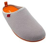 Andres Machado Spring/Summer Unisex Slippers in Grey mesh with Grey Outsole, UK 4 / EU 37