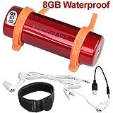 Reproductor MP3 Sumergible Rojo 8GB Acuatico Natacion