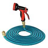 flora guardia 15m tubo da giardino pipe-expandable Magic tubo stretch con pistola a spruzzo multifunzione con 10 tubi