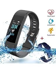 VIFLYKOO Montre Cardiofréquencemètre, Montre Connecté Podometre Smartwatch Bracelet Connecté Écran Coloré Etanche IP67,GPS Fitness Tracker d'Activité Cardiofréquencemètre pour Enfants Femmes Hommes