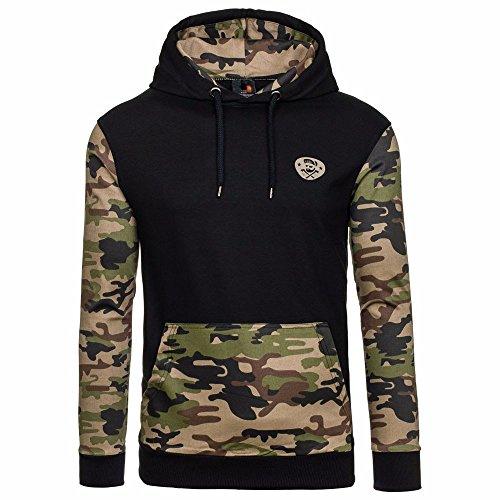 JYJM Herren Camouflage Jacke Herren Kapuzenjacke Herren Pullover Sweatshirt Hoodie Herren Langarm Jacke Herren Taschenjacke Cotton Warme Jacke Herren Outdoor Freizeit Jacke Herren Kurzjacke
