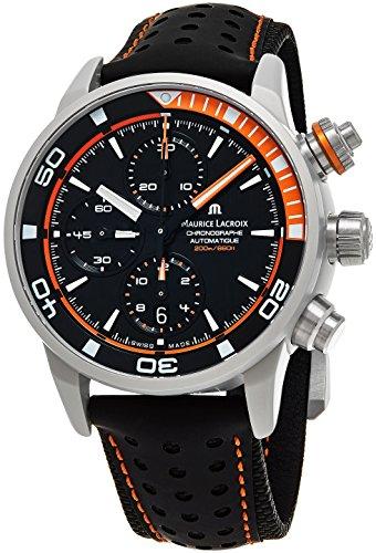 Maurice Lacroix Men's Black Calfskin Band Automatic Watch PT6028-ALB31-331-1