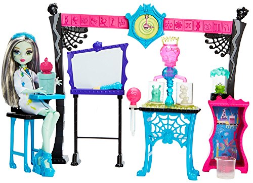 Monster High - Skulltimate Science Class Spielset inclusive Frankie Stein (High Monster Tun)