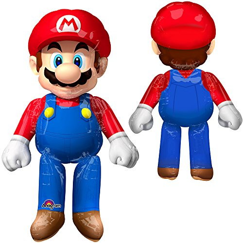 Amscan 3231701 36 x 152,4 cm Super Mario Air Walkers (X-Large) (Mario Dress Up)